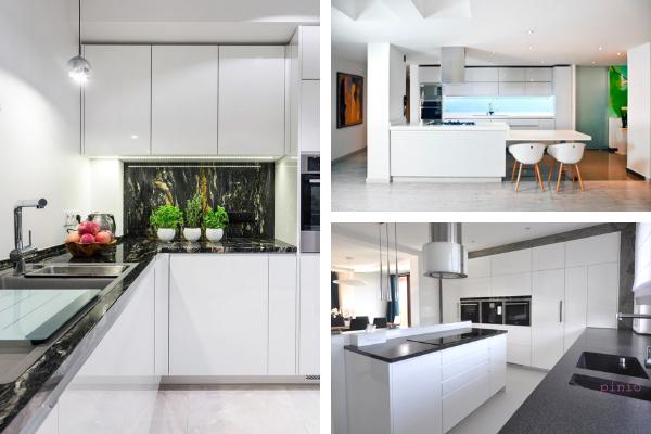 Kolory wkuchni - zdjęcia białej kuchni. Projekt kuchni Kuchnie Pinio.