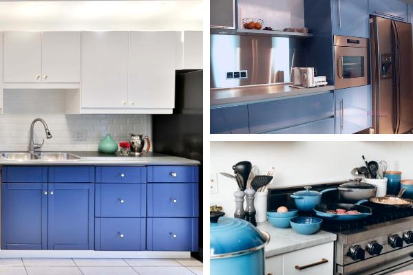 Kolory wkuchni - zdjęcia niebieskiej kuchni. Projekt kuchni Kuchnie Pinio.