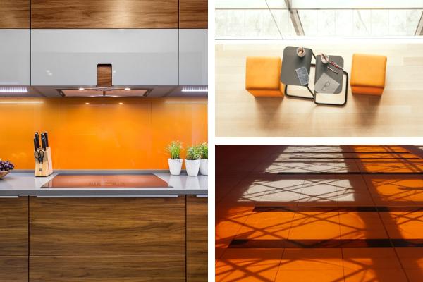 Kolory wkuchni - zdjęcia pomarańczowej kuchni. Projekt kuchni Kuchnie Pinio.
