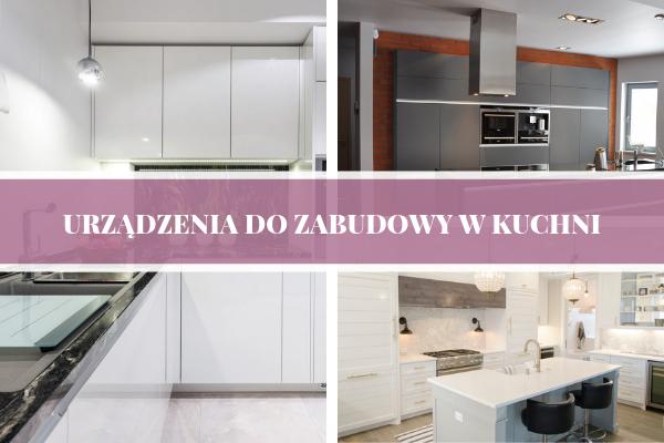 Urządzenia do zabudowy w kuchni - projektu kuchni od Kuchnie Pinio z zabudowaną zmywarką i lodówką.