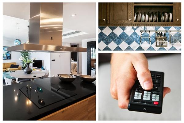 Telewizor na ścianie w kuchni, aranżacje, projekt kuchni