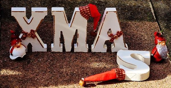Wystrój kuchni naBoże Narodzenie, napis XMAS, litery XMAS, Kuchnie Pinio