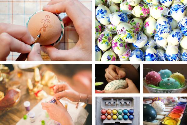 Dekoracje wielkanocne nastół - pisanki, jajka, malowanie pisanek, inspiracje napisanki odKuchnie Pinio.