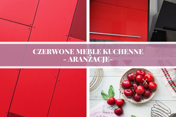 Czerwone meble kuchenne - aranżacje od Kuchnie Pinio - projektowanie kuchni na Śląsku - zdjęcia do wpisu.