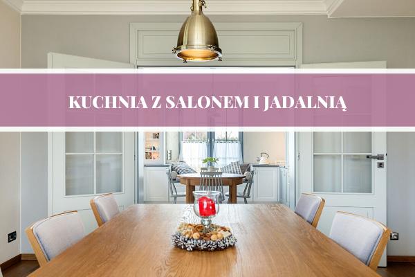 Projekt kuchni z salonem i jadalnią Kraków - Kuchnie Pinio Tychy.