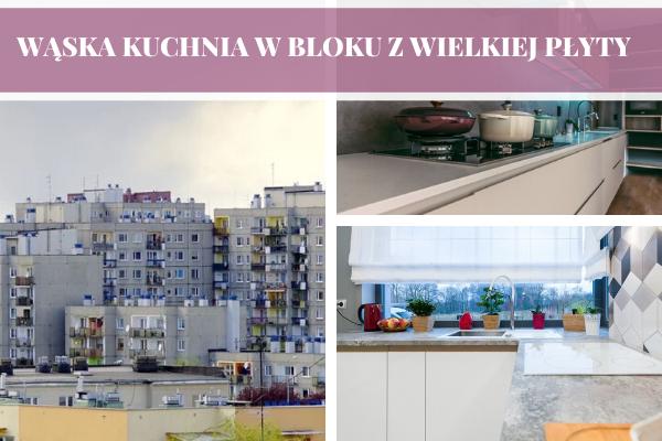 Wąska kuchnia w bloku z wielkiej płyty - projektowanie kuchni w bloku Kraków, Tychy, Katowice by Kuchnie Pinio.