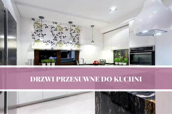 Oddzielenie kuchni od salonu - drzwi przesuwne w projektach kuchni Kuchnie Pinio. Projektowanie kuchni Kraków z przesuwnymi drzwiami.