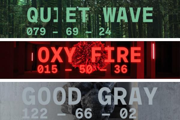 Modne kolory dokuchni 2021 - Quiet Wave, Oxy Fire, Good Gray.