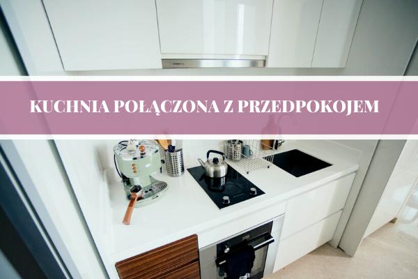 Kuchnia połączona z przedpokojem - projektowanie kuchni w przedpokoju.